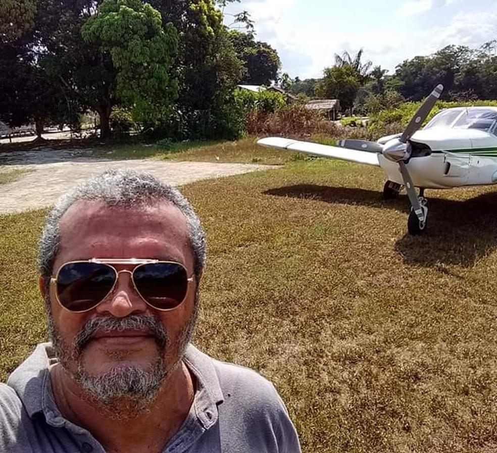 Jeziel Moura pilotava avião monomotor que desapareceu na Amazônia no dia 2 de dezembro — Foto: Flávia Moura/Arquivo Pessoal