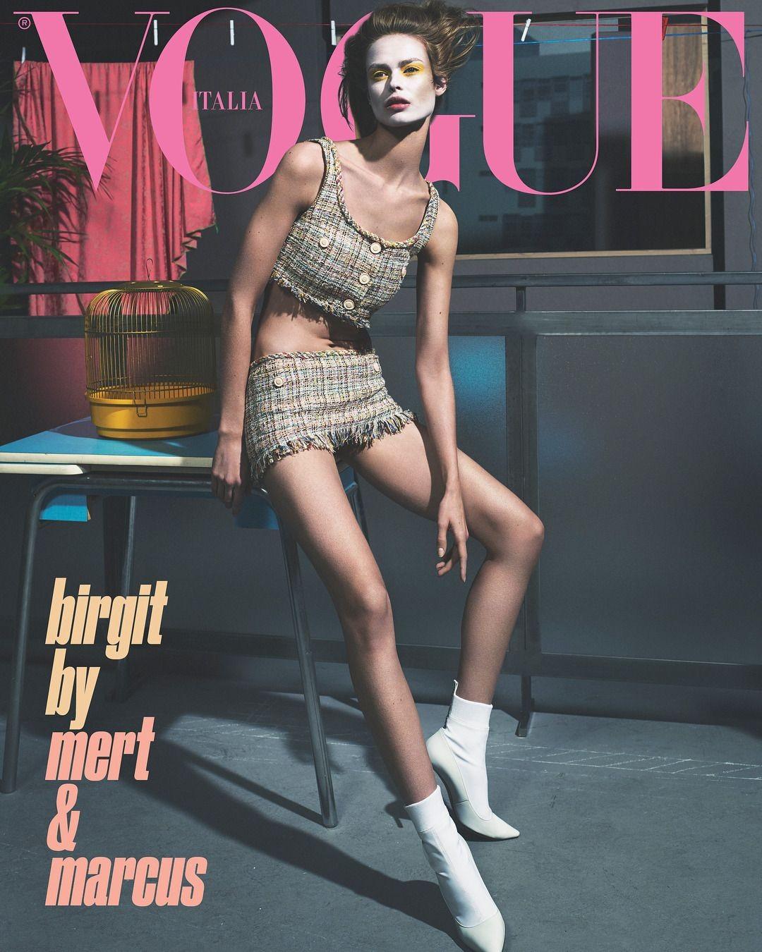 Birgit, capa da Vogue italiana de abril de 2018 (Foto: Divulgação)