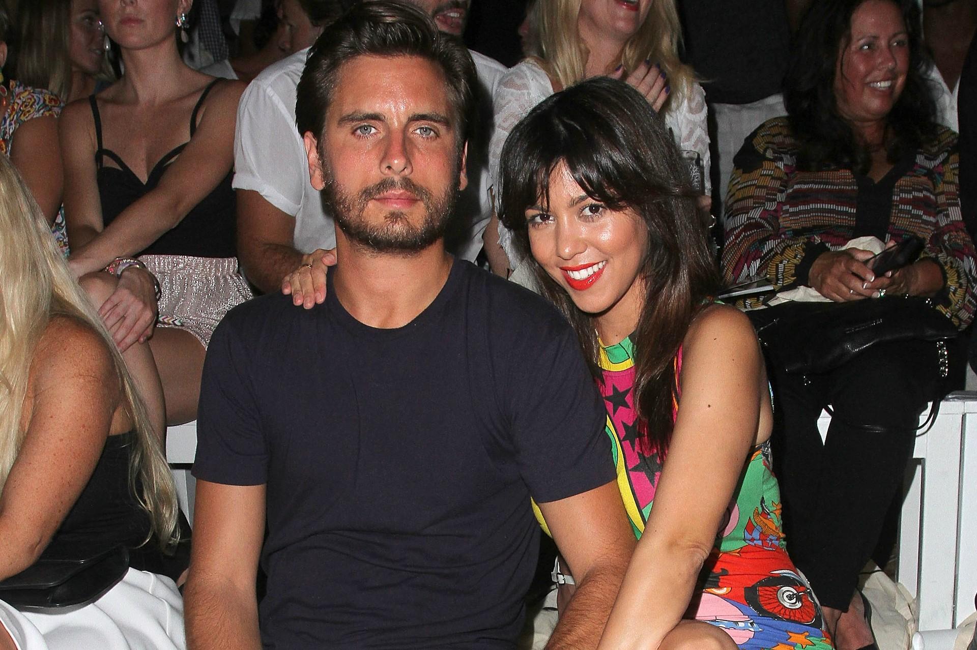 A modelo e socialite Kourtney Kardashian e o modelo e empresário Scott Disick começaram a namorar em 2006, mas o relacionamento costumava ser tão cheio de desentendimentos que, mesmo tendo dois filhos, eles diziam que não pretendiam se casar. Esse discurs (Foto: Getty Images)