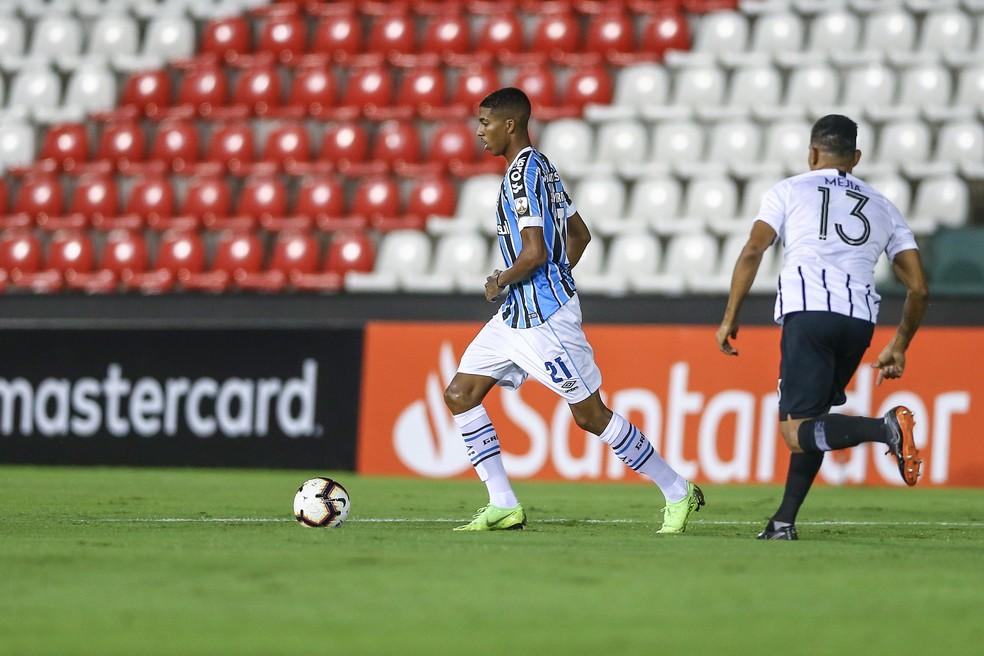 Jean Pyerre é um dos que mais jogaram em 2019 — Foto: Lucas Uebel/Grêmio/Divulgação