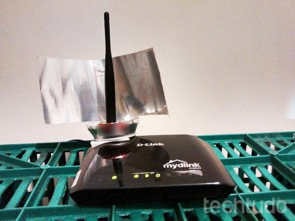 Truque da lata de alumínio pode melhorar sinal do Wi-Fi — Foto: Raquel Freire/TechTudo
