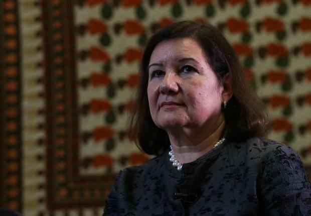 Embaixadora brasileira Maria Luiza Ribeiro Viotti  (Foto: José Cruz/Agência Brasil)