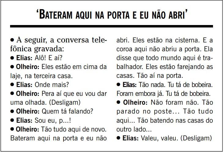 Conversa gravada entre Elias Malico e olheiro, publicada em 21 de setembro de 2002