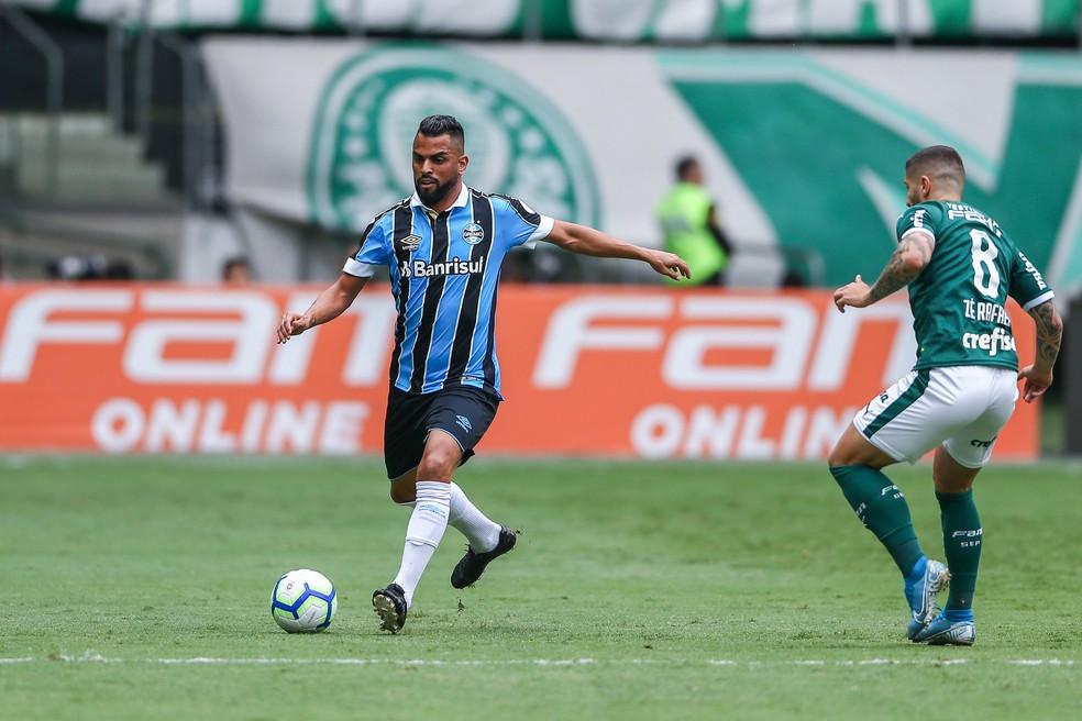 Maicon em vitória do Grêmio — Foto: Lucas Uebel/Grêmio