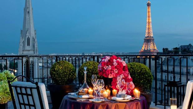 Suíte Penthouse, do Hotel Four Season George V, em Paris (Foto: Reprodução)