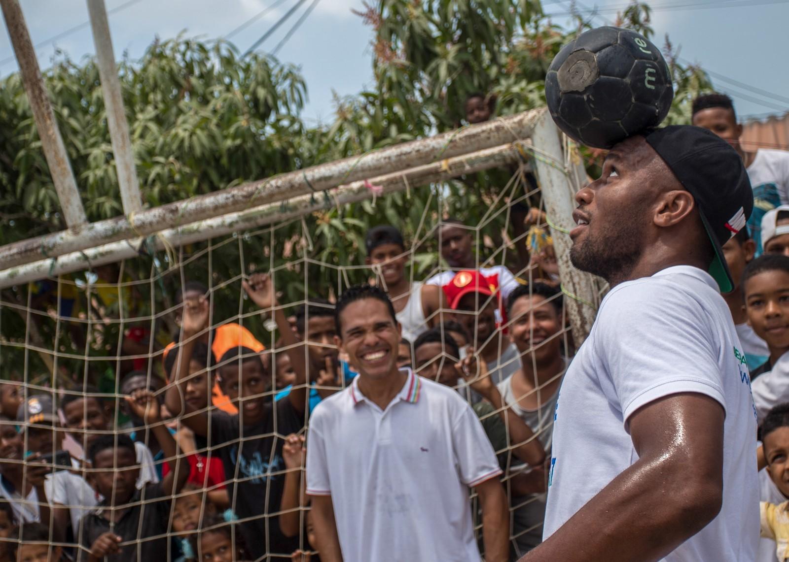 Didier Drogba en viste en Colombie
