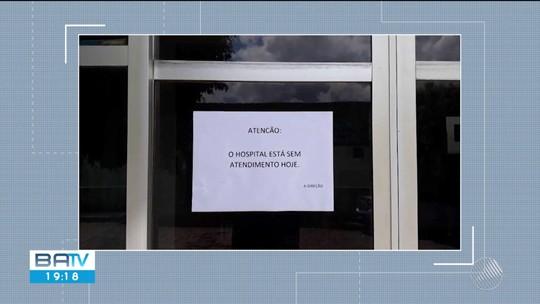 Com salários atrasados, funcionários do único hospital de Itanhém, na BA, paralisam atividades e unidade fica fechada