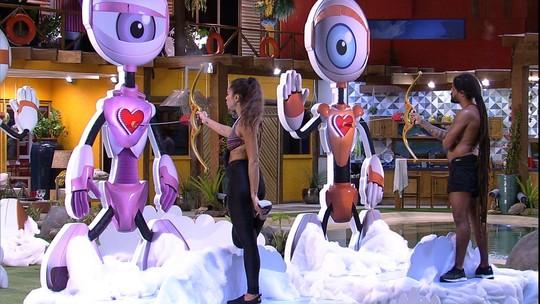 Paula e Viegas permanecem em silêncio na Prova do Anjo Cupido BBB
