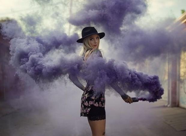 Você não precisa ir muito longe para cliques com bombas de fumaça (Foto: Pinterest/ Reprodução)