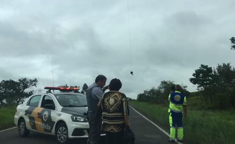 Motorista teve apenas ferimentos leves e foi levado para a Santa Casa de Jaú — Foto: Arquivo pessoal