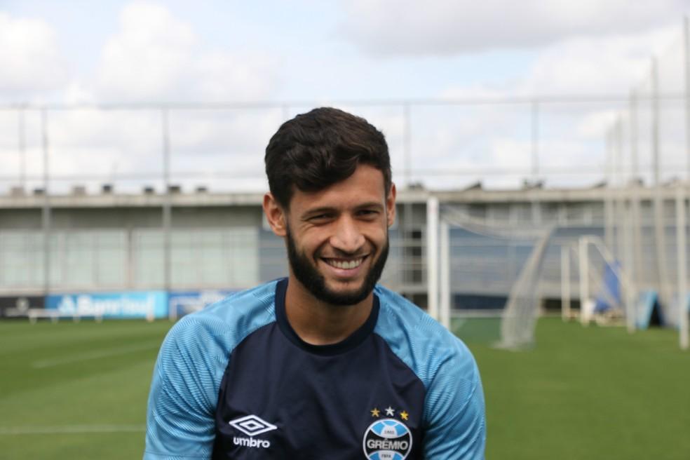 Juninho Capixaba está emprestado ao Grêmio até o fim do Gauchão — Foto: Eduardo Moura