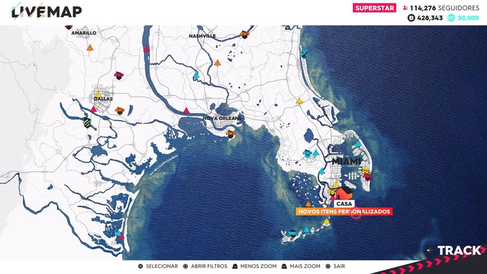 Mapa The Crew 2.Saiba Como Mudar O Visual Do Piloto Em The Crew 2 Jogos De