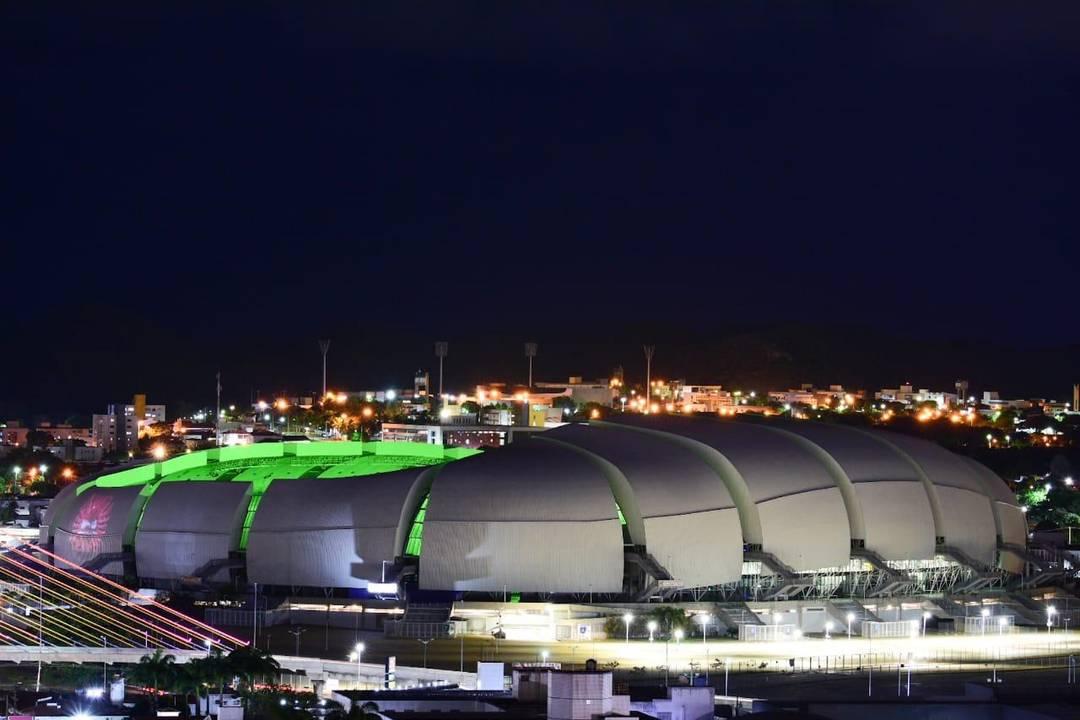 Arena das Dunas com iluminação especial