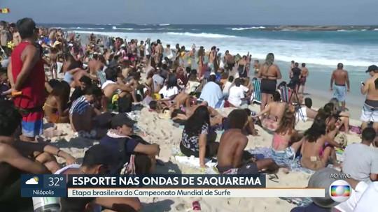 A etapa brasileira do Campeonato Mundial de Surfe em Saquarema