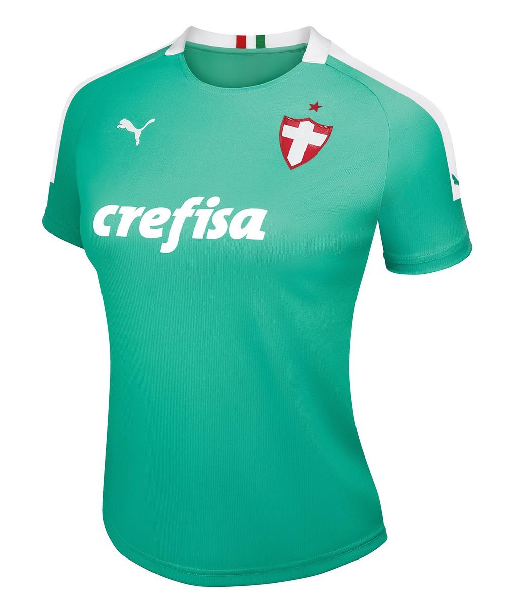 Camisa feminina do Palmeiras vai custar R$ 229,90 — Foto: Divulgação/Palmeiras