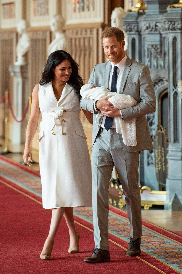 Meghan Markle e Harry mostraram o filho (Foto: Getty Images)