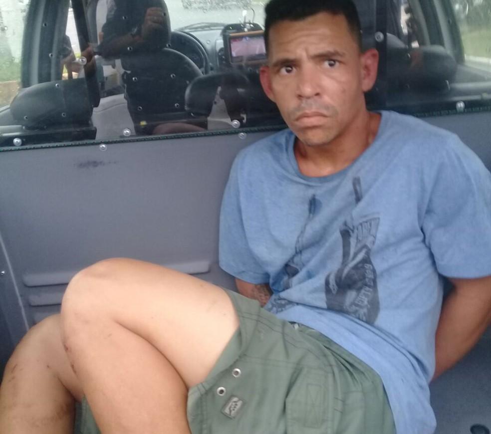 Tiago Amaro das Virgens foi preso por estuprar duas mulheres, em Praia Grande (Foto: Divulgação/Polícia Civil)