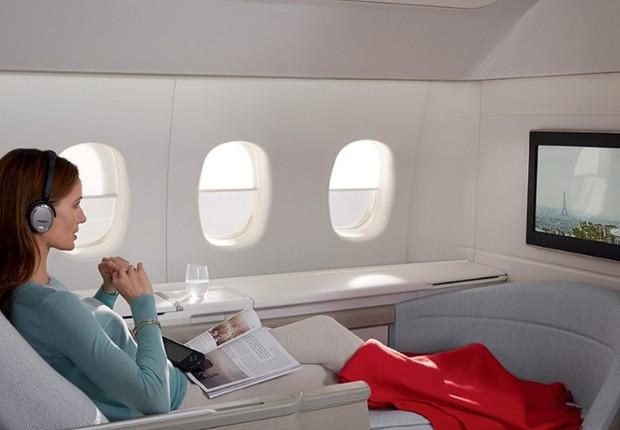 Cabine de primeira classe da Air France (Foto: Air France/Reprodução)