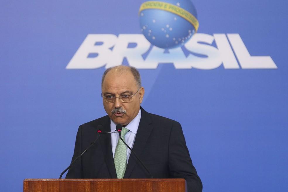 O ministro do GSI, general Sérgio Etchegoyen — Foto: Antonio Cruz/ Agência Brasil