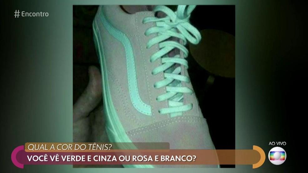 Qual a cor do tênis? — Foto: Reprodução/ TV Globo