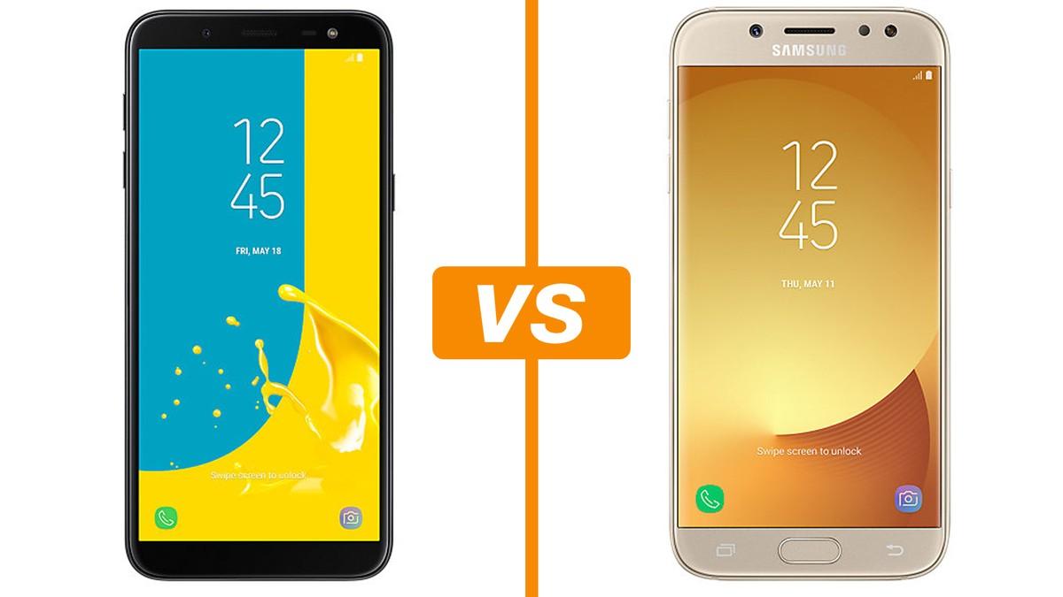 964bf59b5 Galaxy J6 vs Galaxy J5 Pro  comparativo traz ficha técnica e preço ...