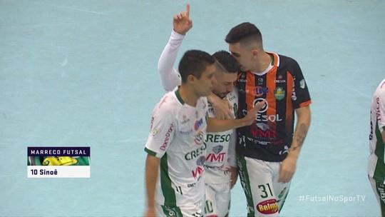 Os gols de Marreco 4 x 8 Joinville pela Liga Nacional de Futsal 2019