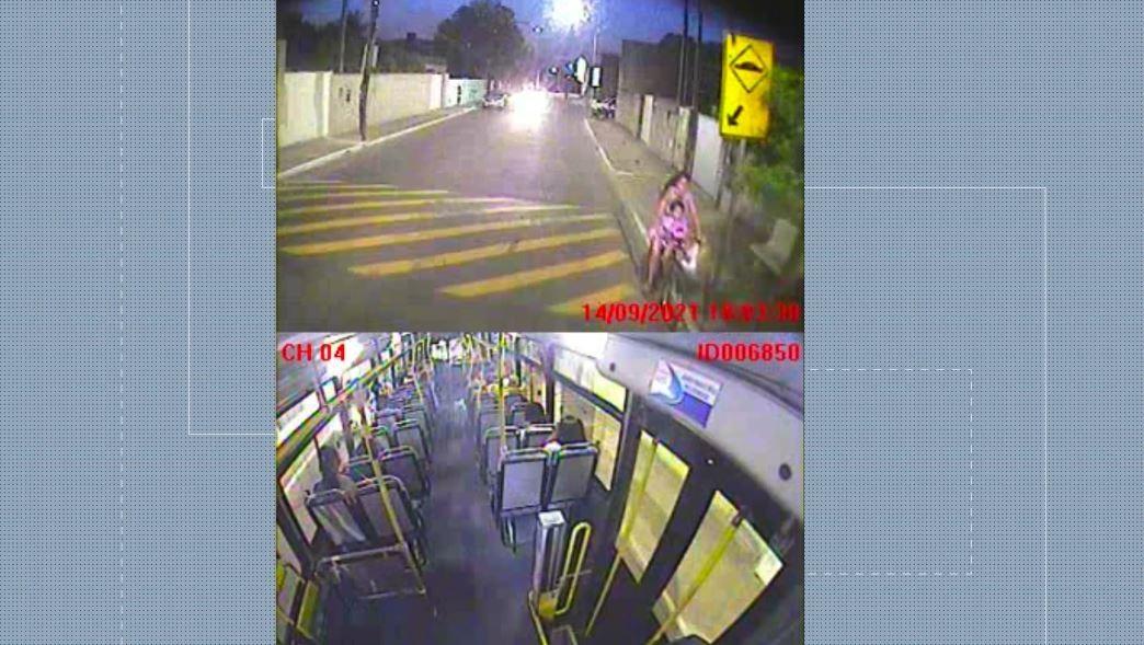 Vídeo mostra acidente com ônibus que matou menina de 2 anos no ES