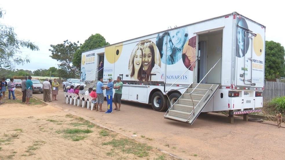 -  Carreta da saúde passou primeiro por Guajará-Mirim.  Foto: Reprodução/Rede Amazônica