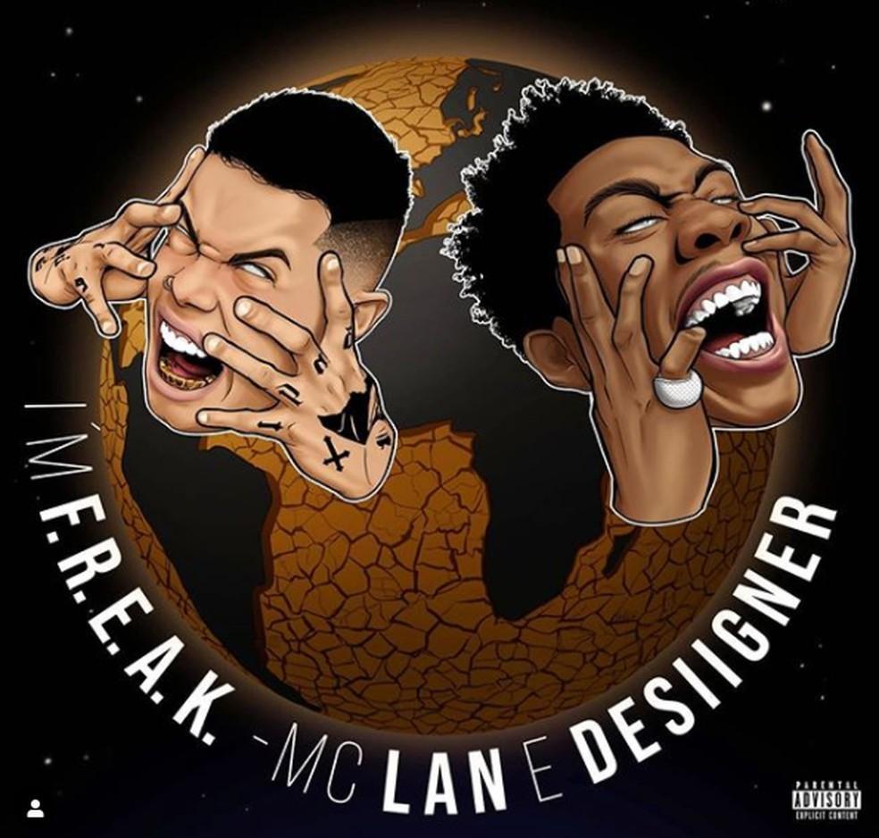 Capa de 'I'm F.R.E.A.K.', parceria de MC Lan com o rapper americano Desiigner, do hit 'Panda' — Foto: Divulgação