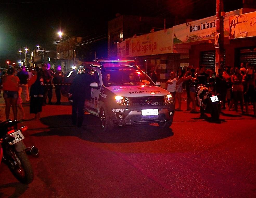 Somente no bairro Pajuçara, na Zona Norte, foram três homicídios — Foto: Inter TV Cabugi/Reprodução