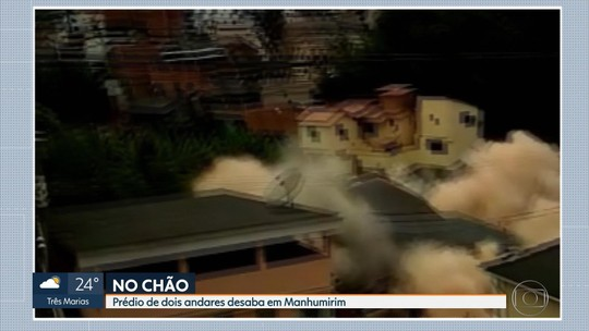 Prédio de dois andares desaba em Manhumirim, em Minas Gerais