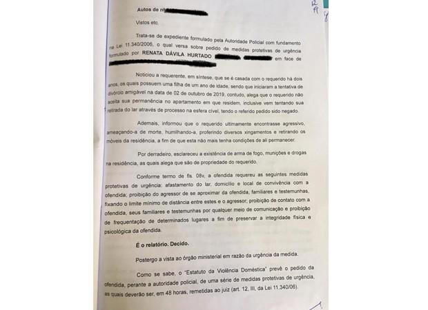 Renata conseguiu uma medida protetiva contra o ex-marido (Foto: Arquivo pessoal)