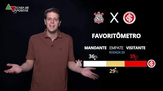 Corinthians x Internacional: veja onde assistir, escalações, desfalques e arbitragem