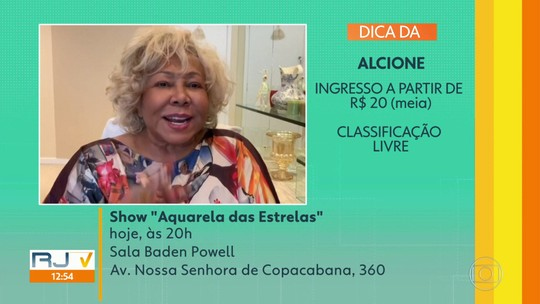 Dicas de casa: show da Jhussara 'Aquarela das Estrelas' na Sala Baden Powell