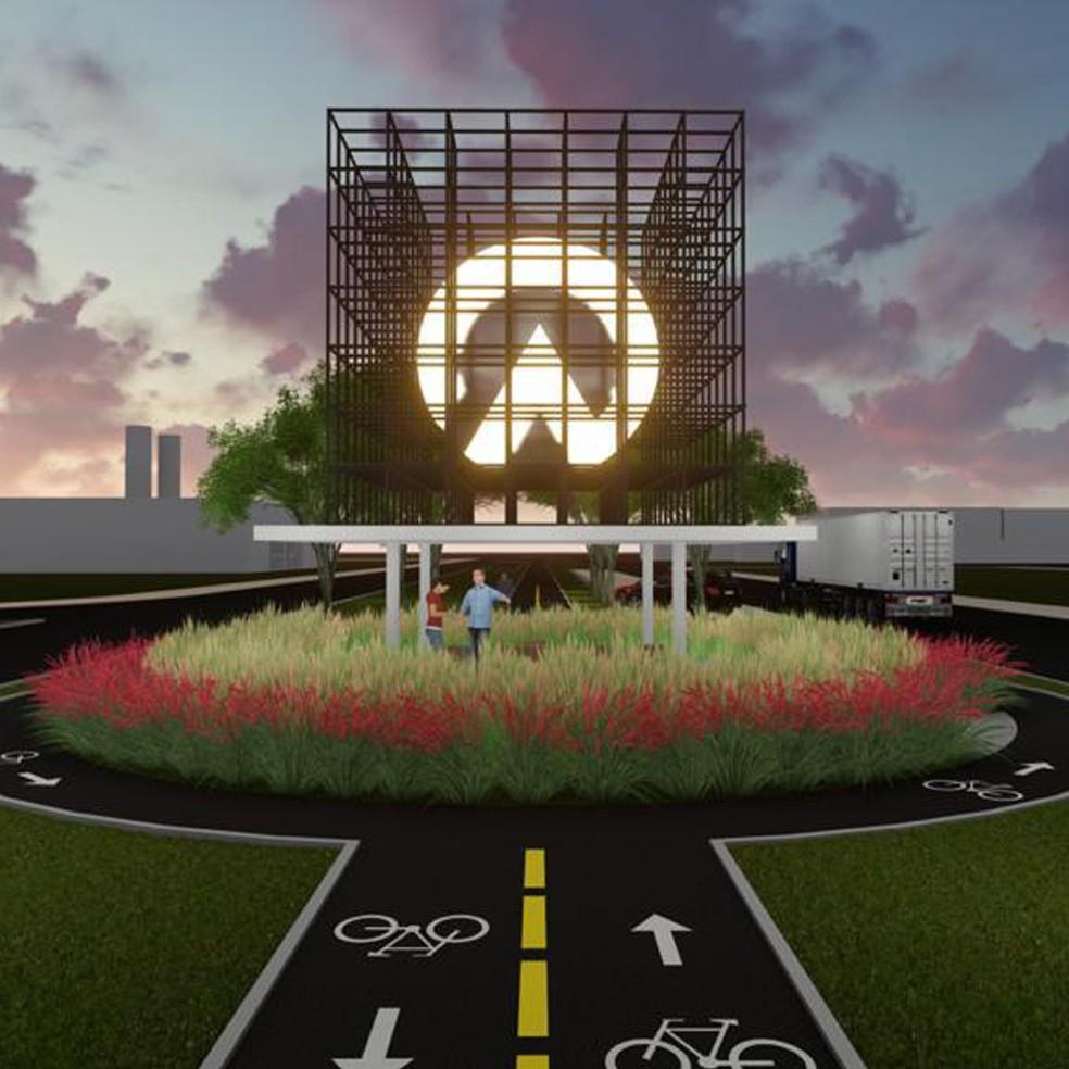 Eixo Norte Parque Empresarial será destinado à implantação de indústrias, comércios e prestação de serviço — Foto: Divulgação