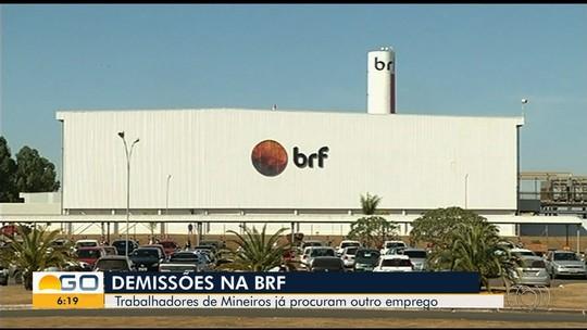 Após BRF fechar área de frigorífico em Mineiros, funcionários buscam outros empregos
