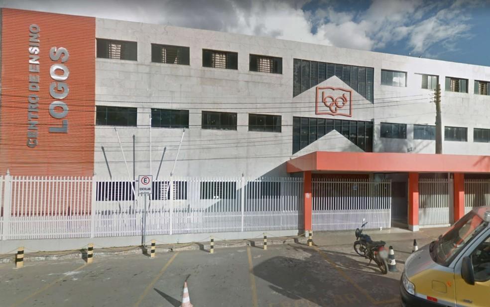 Fachada do colégio particular Logos, em Samambaia (Foto: Google Maps/Reprodução)