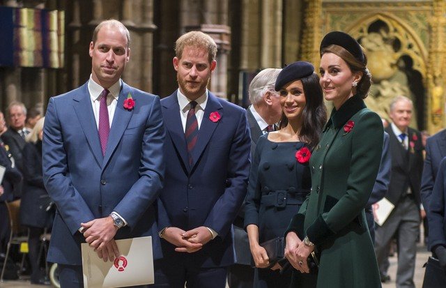 William, Harry, Meghan Markle e Kate Middleton (Foto: Getty Images)