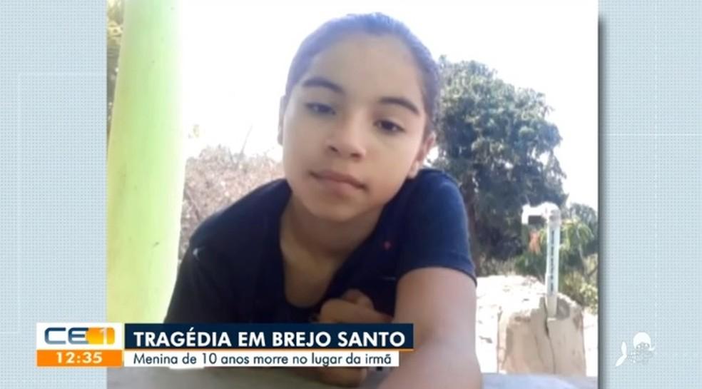 Criança de 10 anos morreu com tiro no abdômen — Foto: TV Verdes Mares/Reprodução