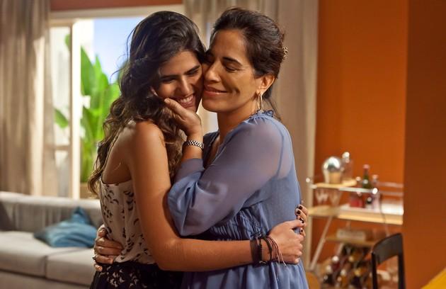Em 'As brasileiras', a atriz contracenou com sua filha, Antônia (Foto: Ique Esteves/ TV Globo)