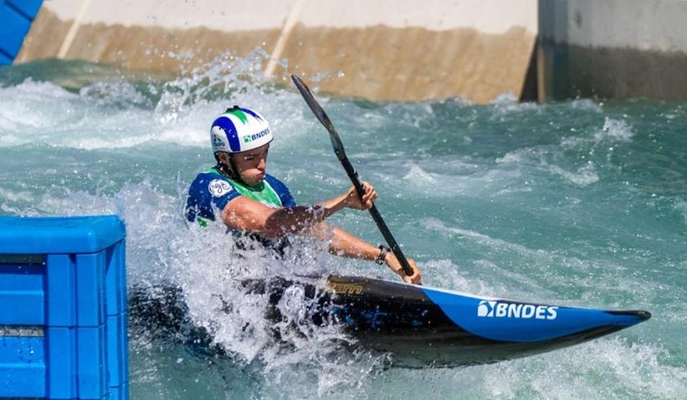 Evento-teste da canoagem slalom no estádio olímpico da modalidade, em Deodoro — Foto: Divulgação