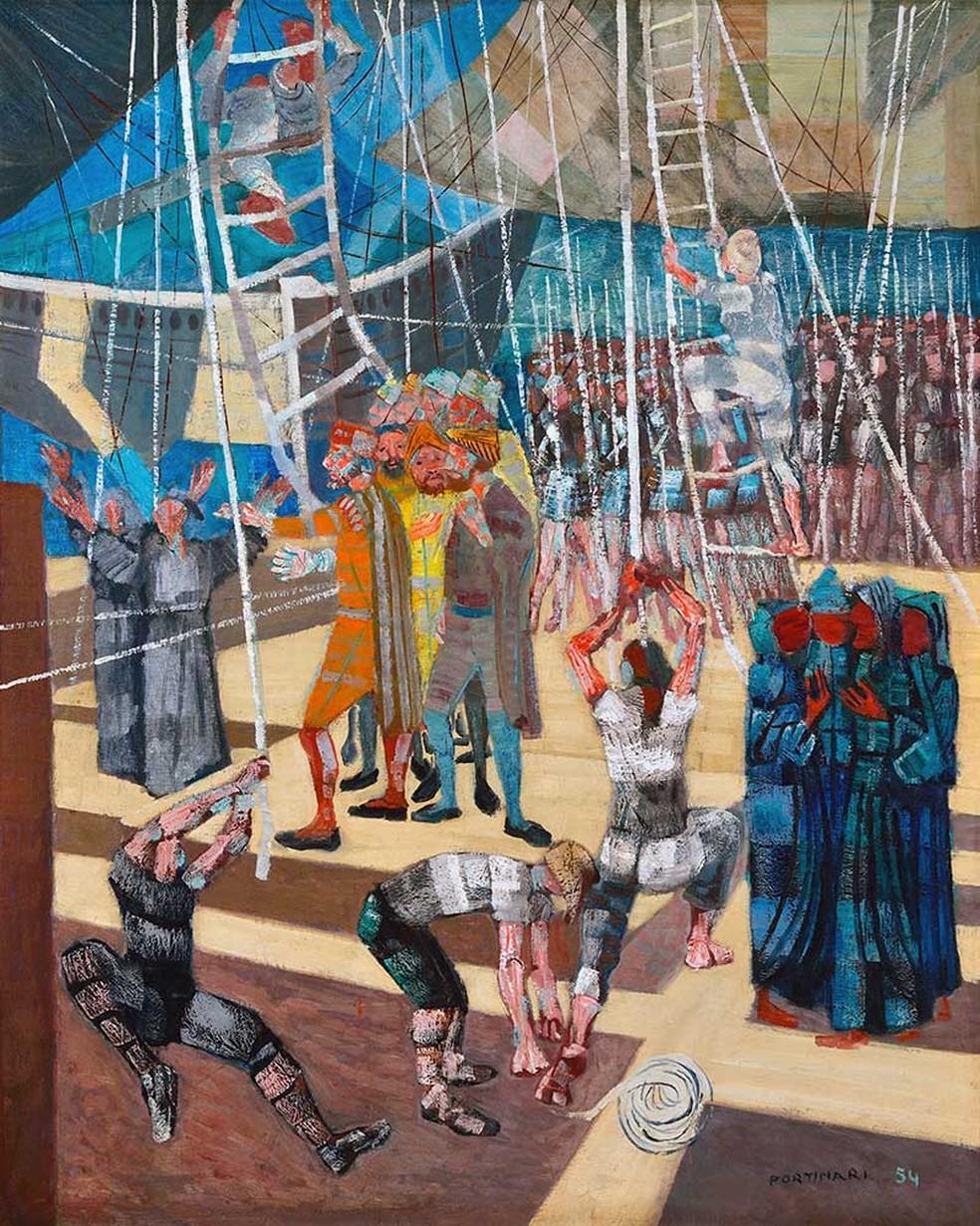 """A obra """"Descobrimento do Brasil"""" (1954), de Candido Portinari, é um dos destaques da exposição. (Foto: Divulgação)"""