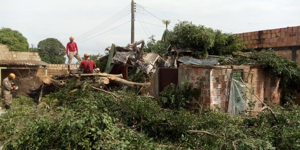 Forte chuva causou prejuízos em Manacapuru, no interior do Amazonas. — Foto: Divulgação/Corpo de Bombeiros