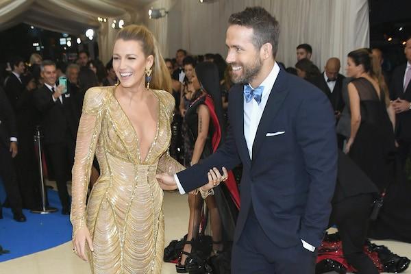 A atriz Blake Lively e o ator Ryan Reynolds durante o MET Gala 2017 (Foto: Getty Images)