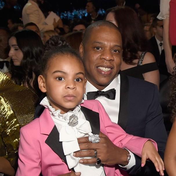 Blue Ivy e Jay-Z (Foto: Reprodução)