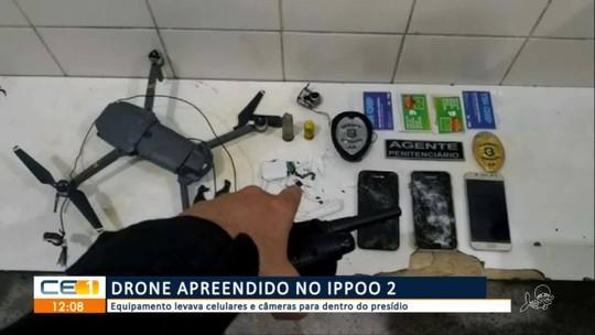 Drone que sobrevoava penitenciária do Ceará levando celulares foi abatido com um único tiro, diz secretário