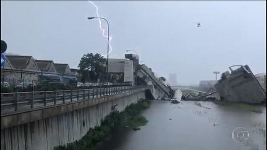 Queda parcial de ponte deixa 26 mortos em Gênova, na Itália