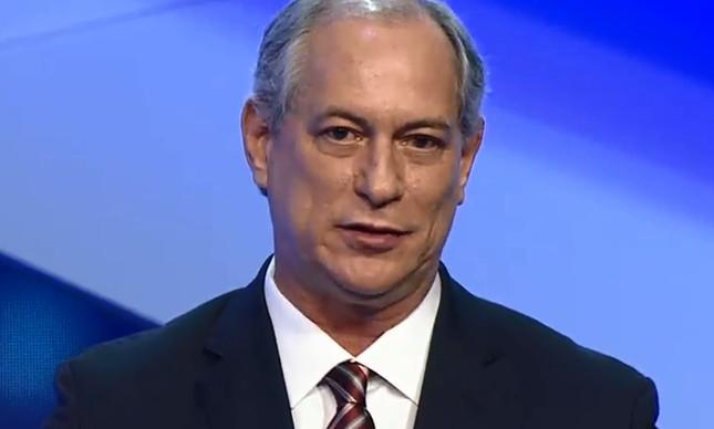 O candidato Ciro Gomes