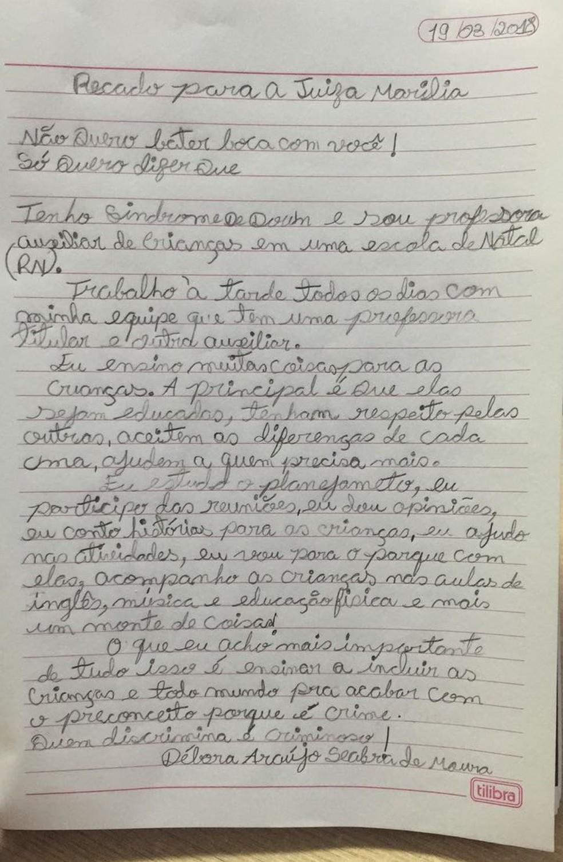 Professora Débora Seabra rebateu às críticas da desembargadora (Foto: Reprodução/Facebook)