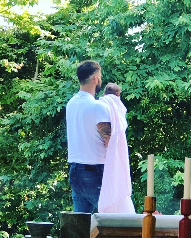 Ricky Martin e a filha, Lucia (Foto: Reprodução / Instagram)